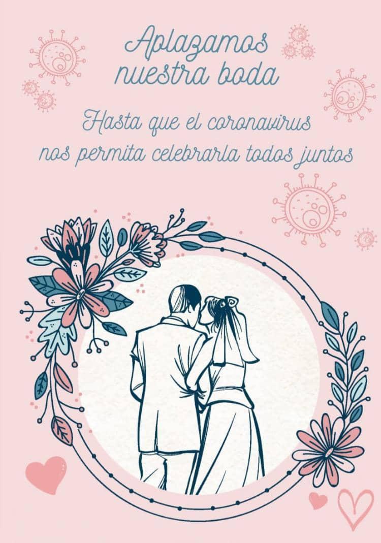 Invitación aplazar bodas coronavirus