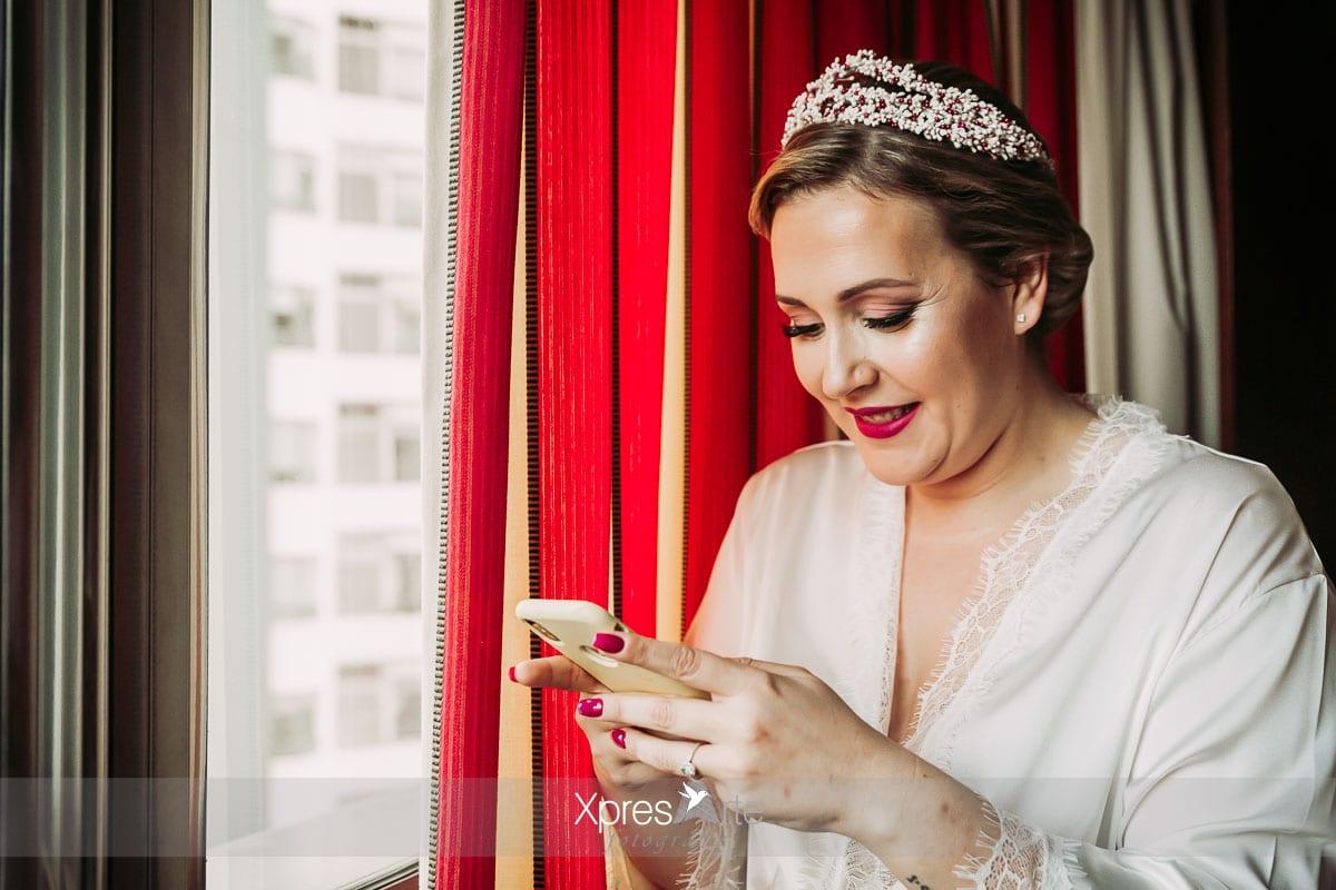 Fotos de la novia antes de la boda