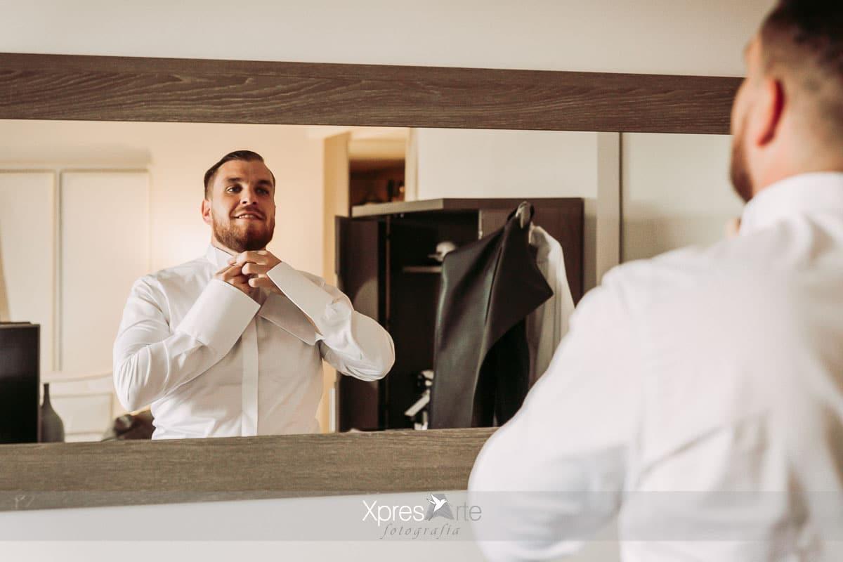 Preparativos del novio