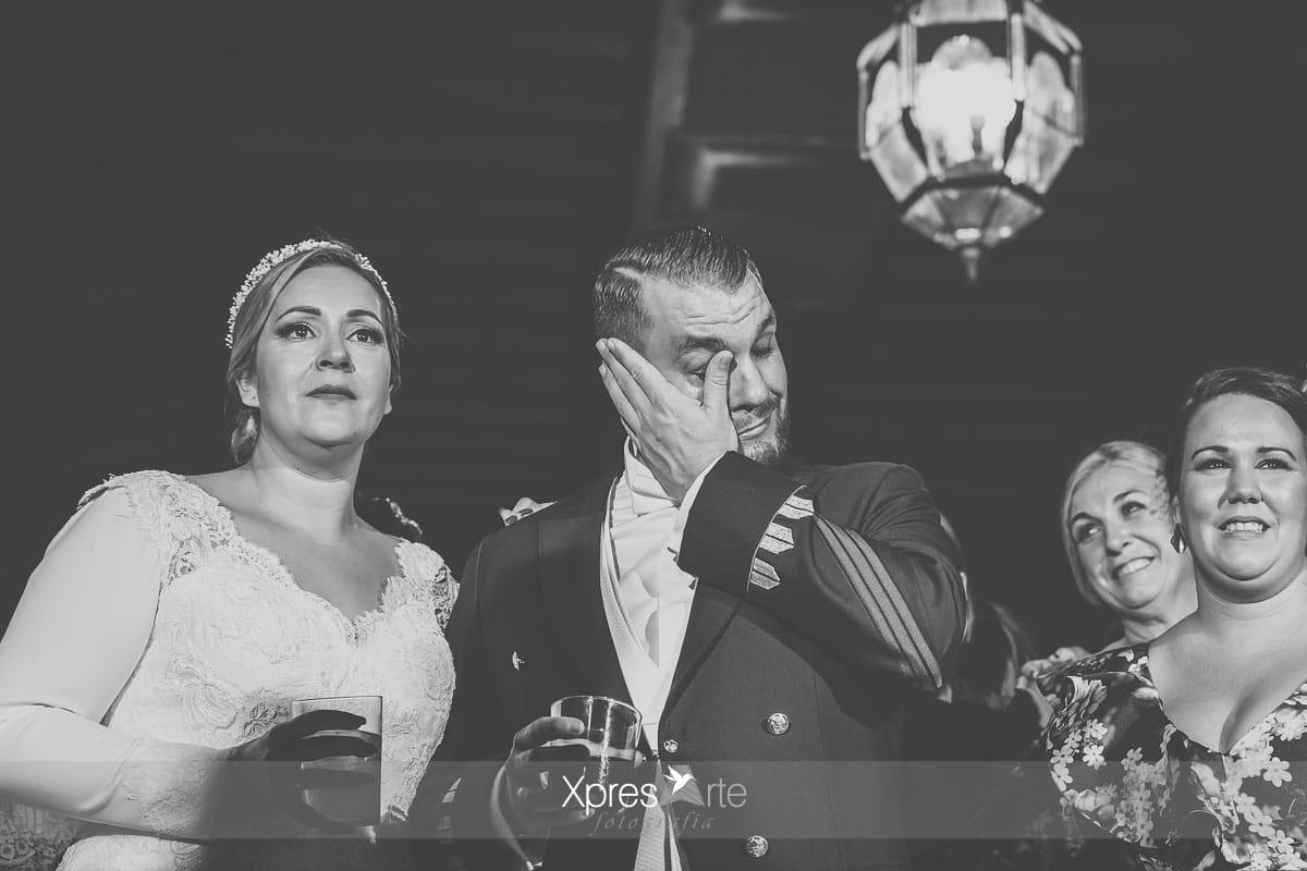 Lagrimas de felicidad en la boda