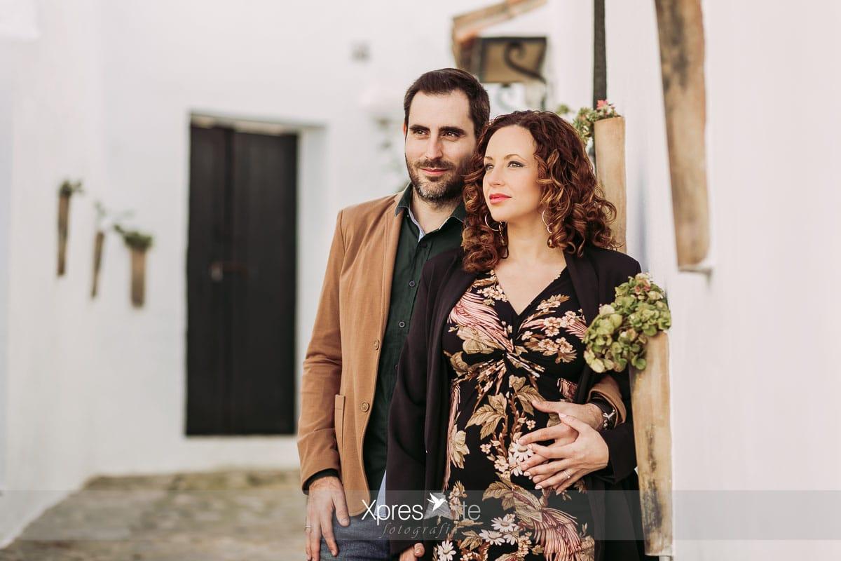 Reportaje de embarazada en pareja