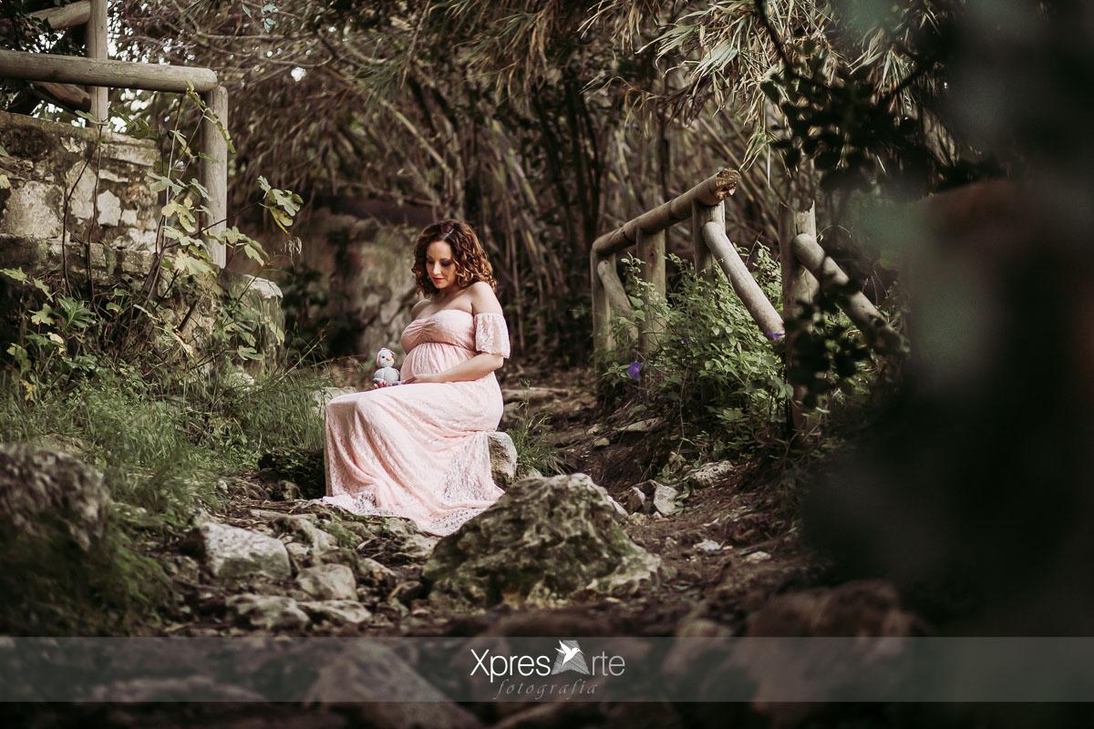 Reportaje embarazada en el campo
