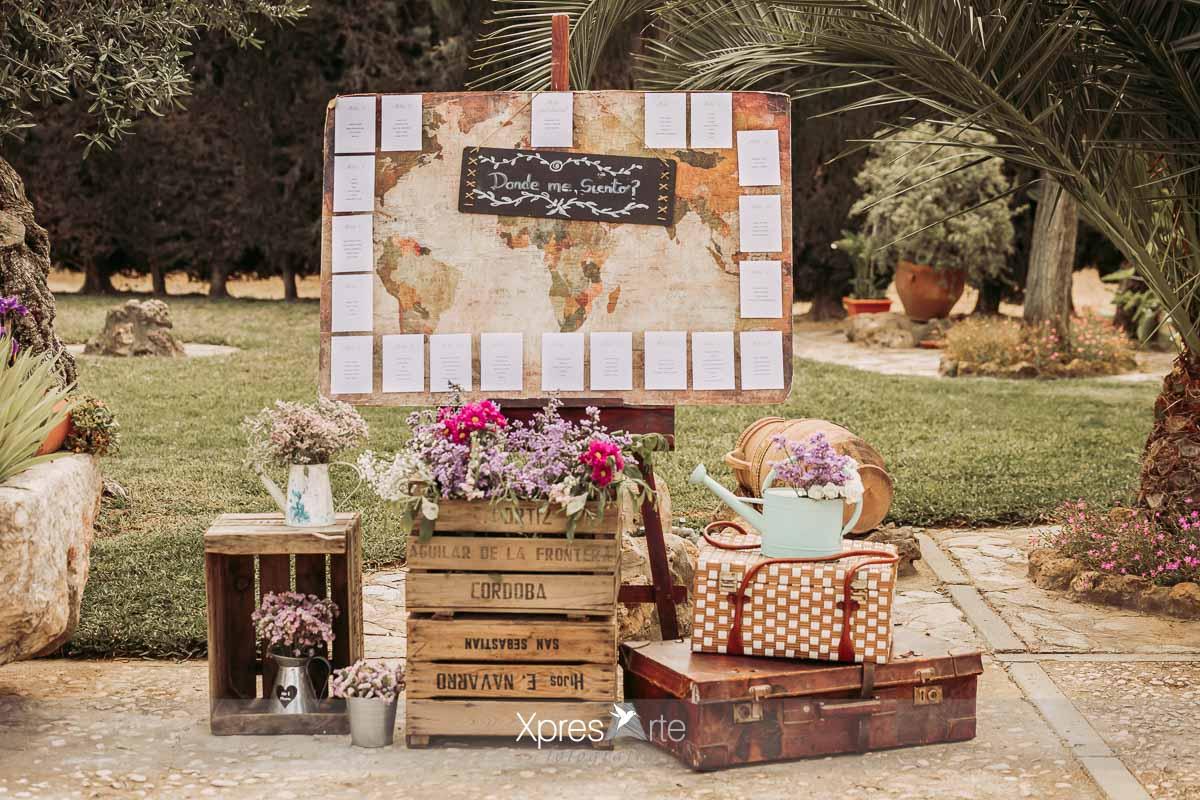 Decoración de bodas, seating plan